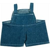Picture of BIB DENIM OVERALL SHORTS FOR PLUSH SOFT TOY in Dark Blue