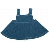 Picture of BIB DENIM OVERALL DRESS FOR PLUSH SOFT TOY in Dark Blue
