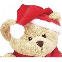Picture of MINI XMAS BONNET FOR SOFT PLUSH ANIMAL in Red & White