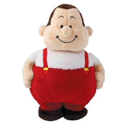 PLUSH SOFT TOY WORKER BERT in Red