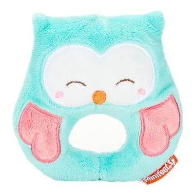 Picture of OWL BABY PLUSH TOY RATTLE