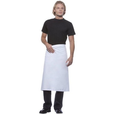 BASIC BISTRO APRON in White or Black 65% Polyester, 35% Cotton, 195gsm