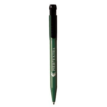 Picture of PIER EXTRA RETRACTABLE PLASTIC BALL PEN in Green with Black Clip