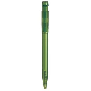 Picture of PIER CLEAR TRANSPARENT RETRACTABLE PLASTIC BALL PEN in Green