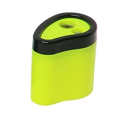 Picture of NEON FLUORESCENT 2 HOLE SHARPENER in Solid Yellow