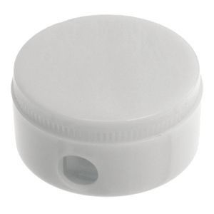 Picture of BG ROUND PENCIL SHARPENER in Solid White