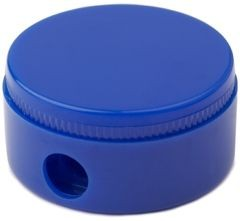 Picture of BG ROUND PENCIL SHARPENER in Solid Blue