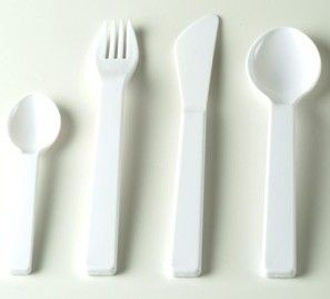 Picture of PLASTIC CUTLERY in White