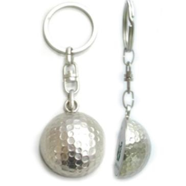 Picture of METAL GOLF BALL KEYRING in Silver