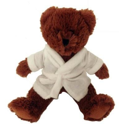 Picture of BROWNIE TEDDY BEAR with Bathrobe