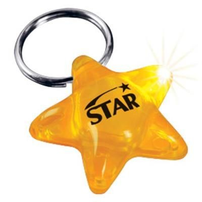 Picture of YELLOW STAR KEYRING CHAIN