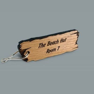 Picture of WOOD KEYRING FOB