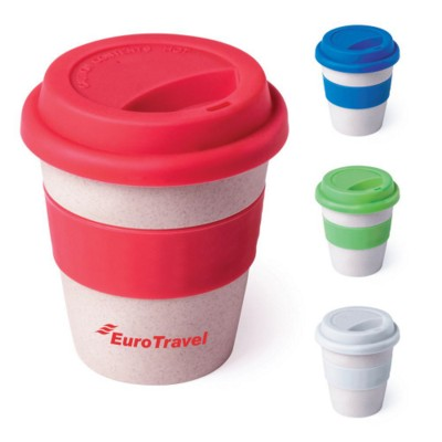 Picture of BAMBOO TRAVEL CUP with Lid & Grip