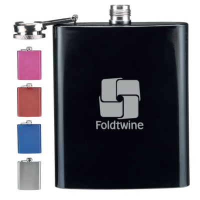 Picture of STAINLESS STEEL METAL HIP FLASK