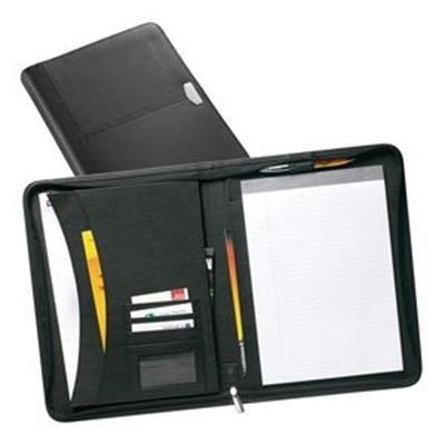 Picture of YORK A4 ZIP LEATHER CONFERENCE FOLDER