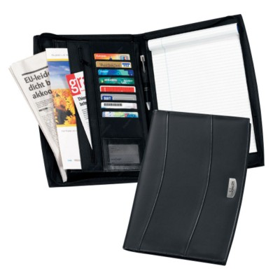 Picture of SOLUTIONS A4 ZIP LEATHER CONFERENCE FOLDER