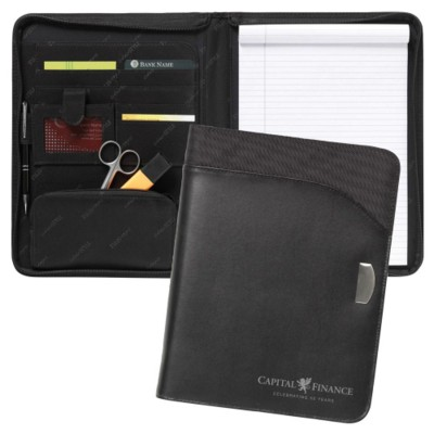 Picture of TOUCAN A4 ZIP LEATHER CONFERENCE FOLDER
