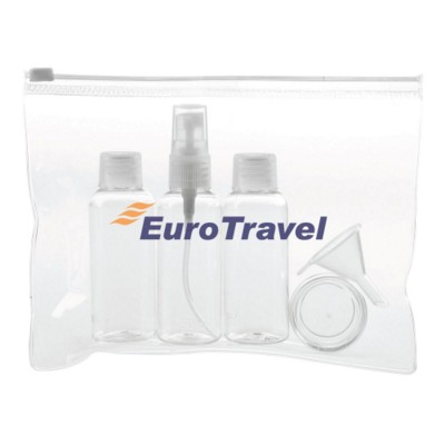 Picture of SIX PIECE COSMETICS BAG in Clear Transparent