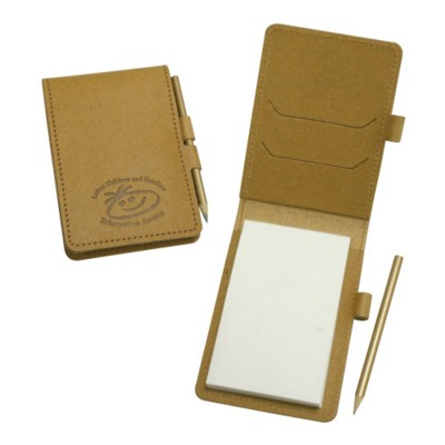 Picture of ECO NATURAL LEATHER MINI NOTE PAD