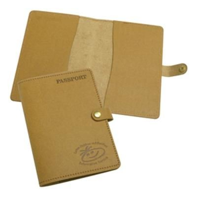Picture of ECO NATURAL LEATHER PASSPORT WALLET