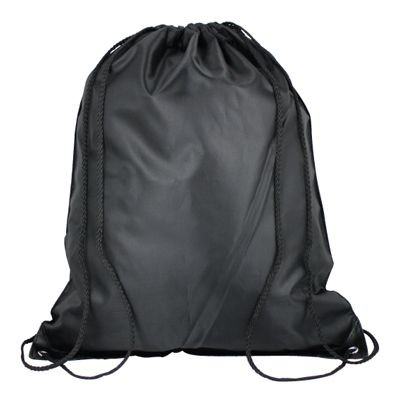 Picture of HIGH QUALITY 210D POLYESTER DRAWSTRING BACKPACK RUCKSACK in Black