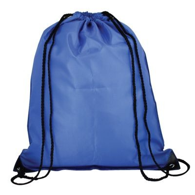 Picture of HIGH QUALITY 210D POLYESTER DRAWSTRING BACKPACK RUCKSACK in Blue