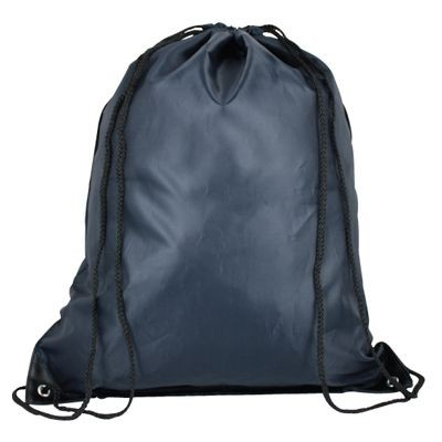 Picture of HIGH QUALITY 210D POLYESTER DRAWSTRING BACKPACK RUCKSACK in Navy Blue
