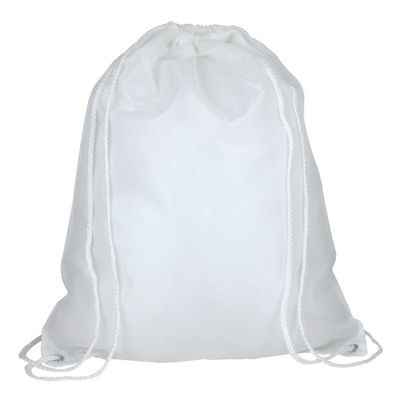 Picture of HIGH QUALITY 210D POLYESTER DRAWSTRING BACKPACK RUCKSACK in White