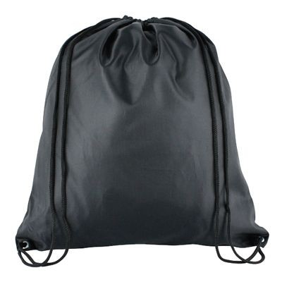 Picture of HIGH QUALITY 210D POLYESTER DRAWSTRING BAG in Black