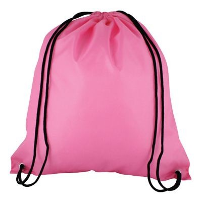 Picture of HIGH QUALITY 210D POLYESTER DRAWSTRING BAG in Pink