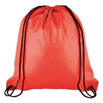 Picture of HIGH QUALITY 210D POLYESTER DRAWSTRING BAG in Red