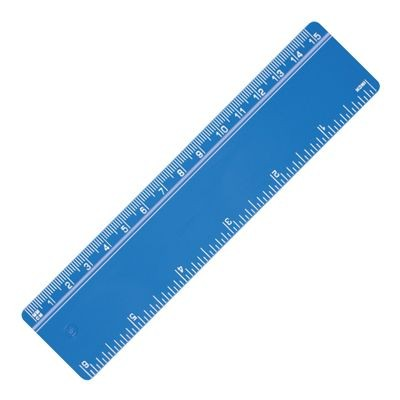 Picture of RECYCLED RULER with Bevelled Edge in Blue