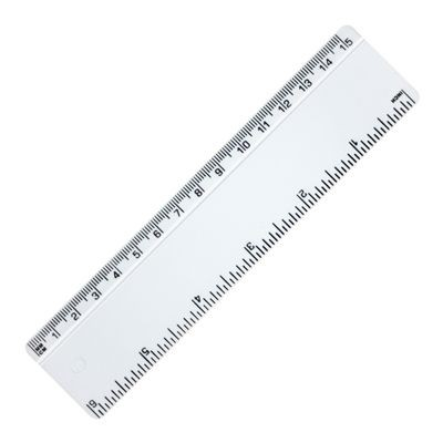 Picture of RECYCLED RULER with Bevelled Edge in White