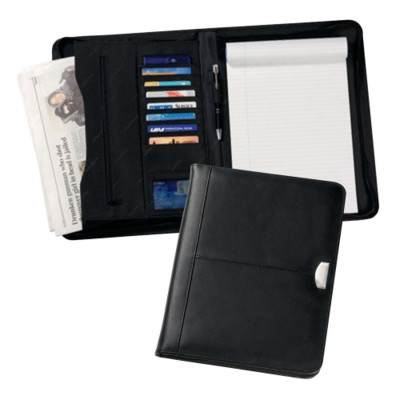 Picture of REGAL A4 ZIP LEATHER CONFERENCE FOLDER