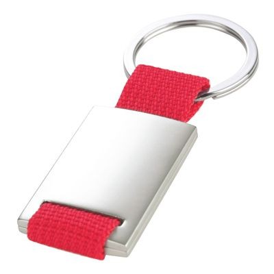 Picture of STRAP KEYRING in Red