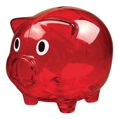 Picture of PIGGI BANK MONEY BOX in Red