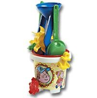 Picture of CHILDRENS BEACH BUCKET, SPADE & SAND MOULD SET