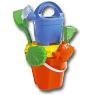 Picture of CHILDRENS BEACH BUCKET, SPADE, SAND MOULD & WATERING CAN SET