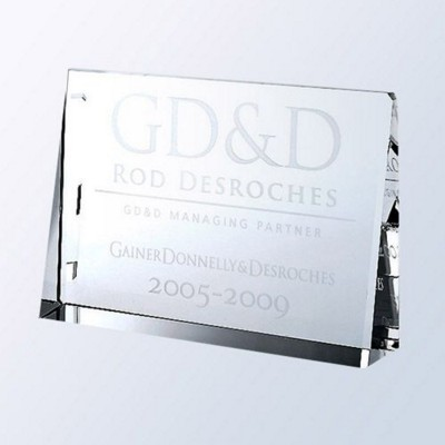 Picture of HORIZONTAL RECTANGLE GLASS PLAQUE AWARD