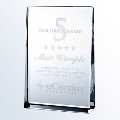 Picture of VERTICAL RECTANGLE GLASS PLAQUE AWARD