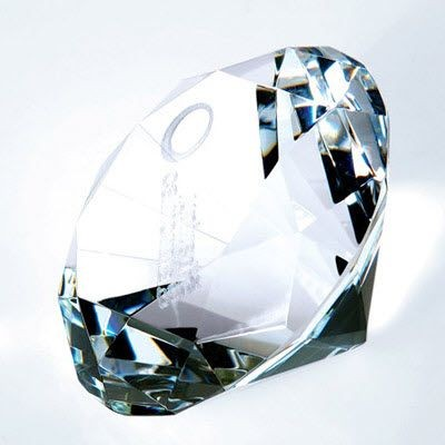 Picture of DIAMOND GLASS PAPERWEIGHT