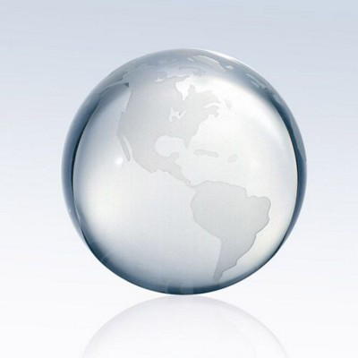 Picture of CLEAR OCEAN WORLD GLOBE GLASS AWARD