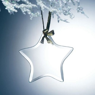 Picture of HANGING STAR GLASS ORNAMENT