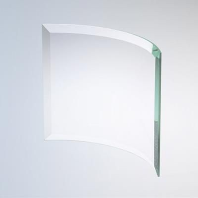 Picture of JADE GREEN GLASS BEVELLED BENT GLASS AWARD