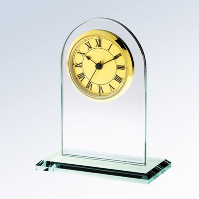 Picture of GOLD ROMAN GLASS CLOCK