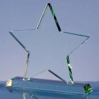 Picture of JADE GLASS STAR AWARD ON BASE