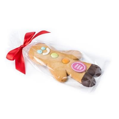 Picture of LARGE BRANDED GINGERBREAD MAN with Bow