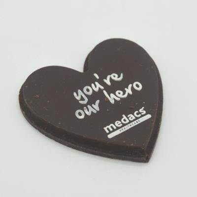 Picture of CHOCOLATE EDIBLE LOGO HEARTS