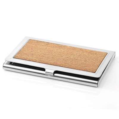 Picture of BUSINESS CARD HOLDER in Silver & Wood