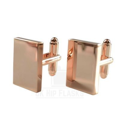 Picture of RECTANGULAR CUFF LINKS in Rose Gold